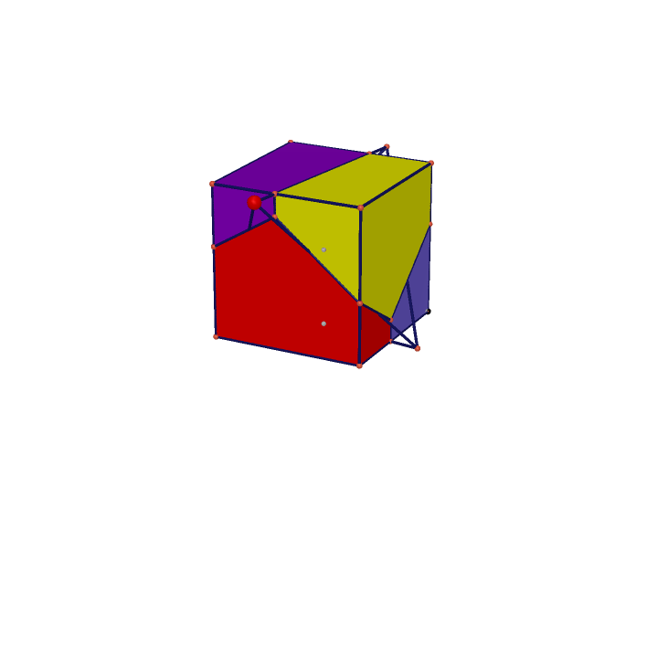 Tetrahedron Projection on Cube